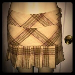 Abercrombie plaid mini skirt, size 4